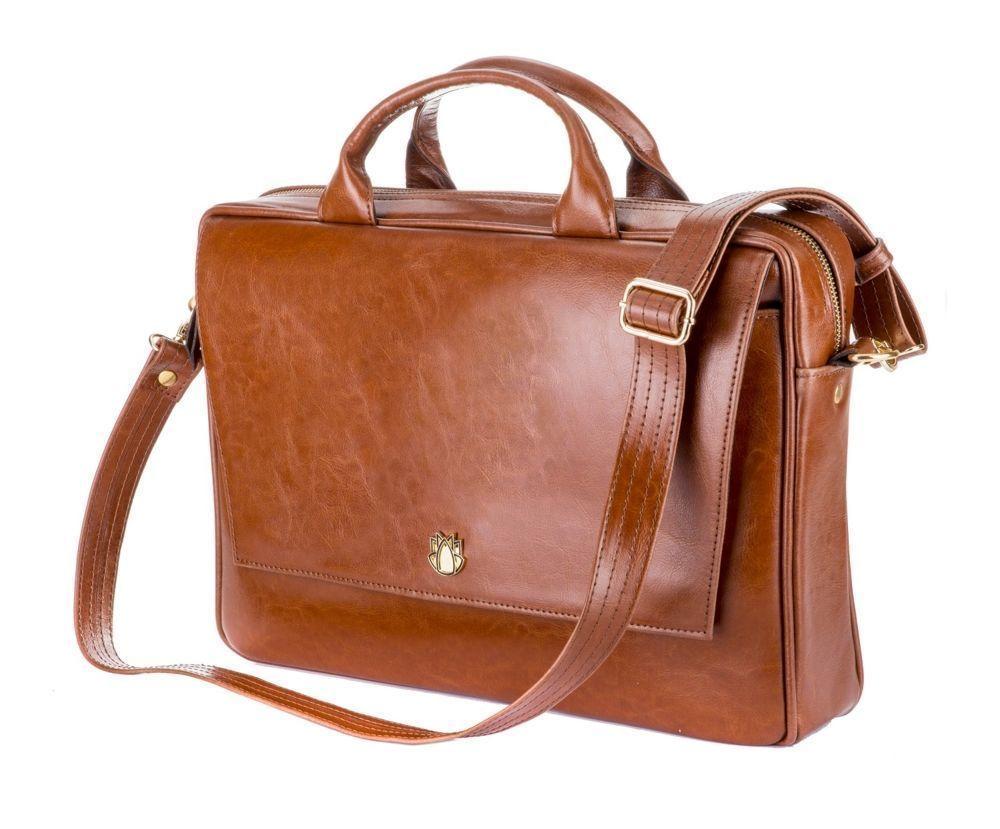 3c06ba40bded0 Skórzana torba na laptopa FL14 Rimini brązowy vintage Kliknij