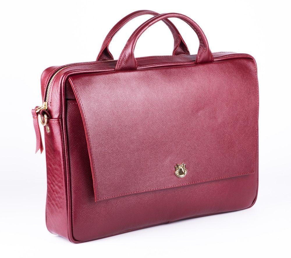 c724205dec2e7 ... Skórzana torba na laptopa FL14 Rimini burgundowa Kliknij