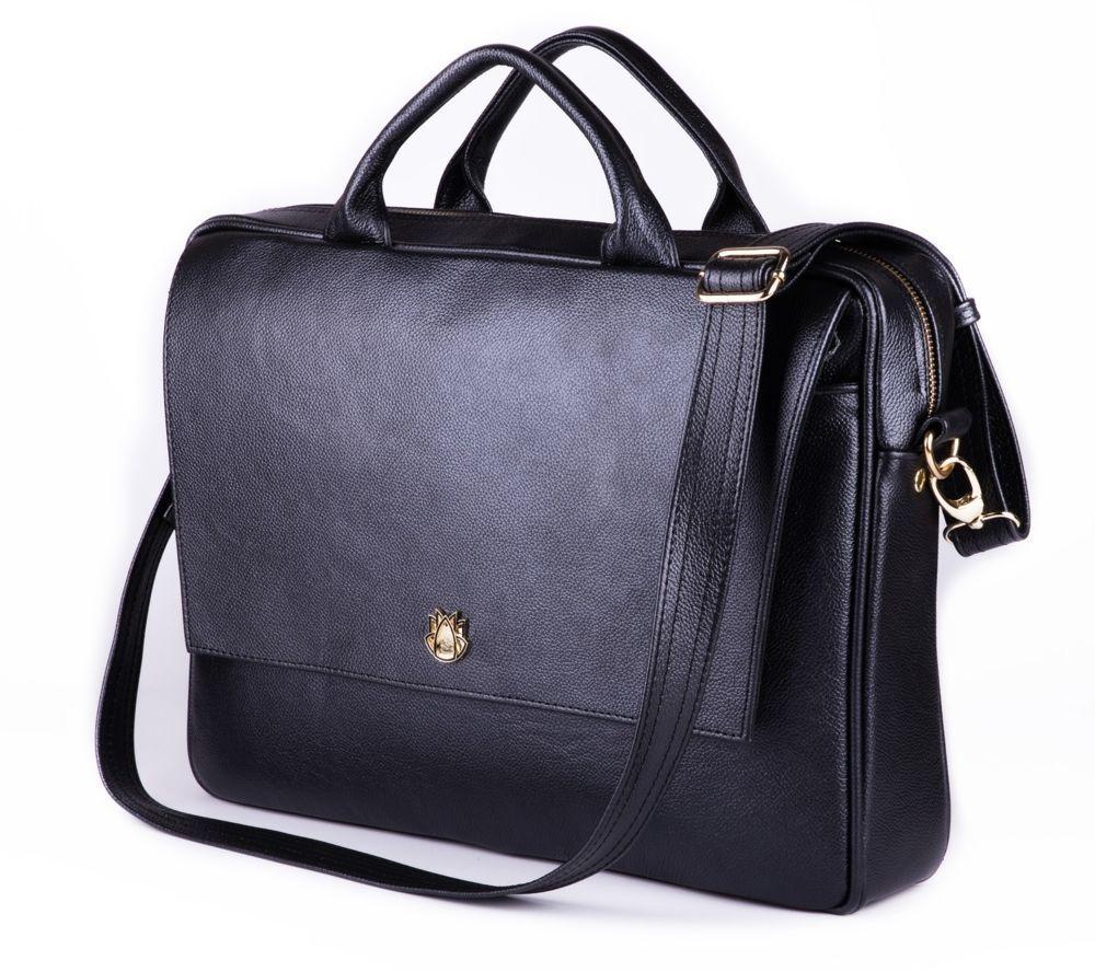 e0bea1c166451 Skórzana torba na laptopa FL14 Rimini czarna Kliknij, aby powiększyć ...