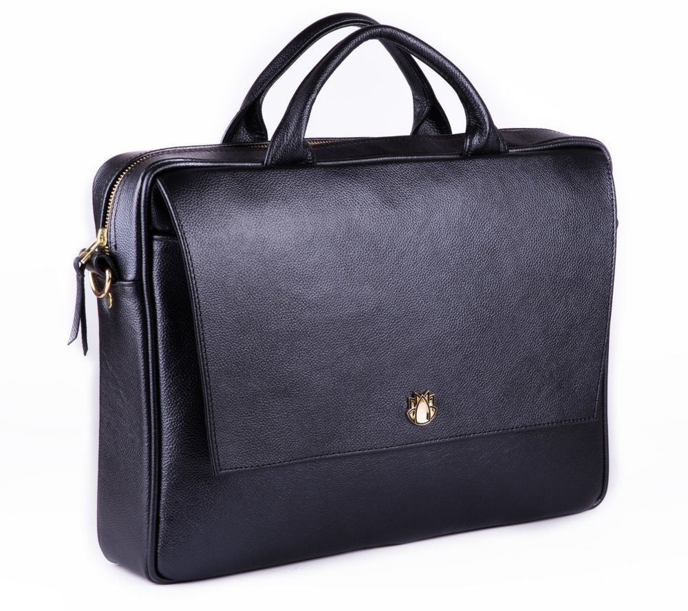 63069253320be ... Skórzana torba na laptopa FL14 Rimini czarna Kliknij