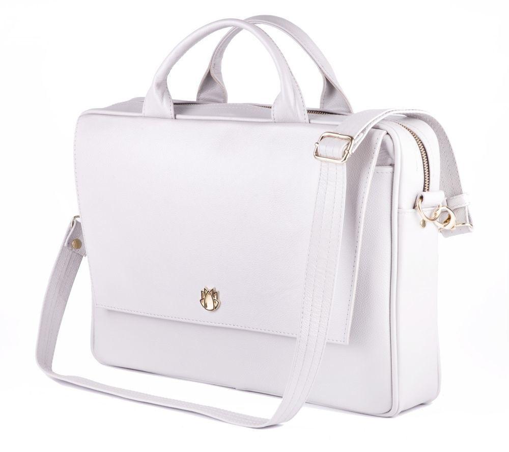 8d4c27e624ab8 Skórzana torba na laptopa FL14 Rimini jasny szary Kliknij, aby powiększyć  ...
