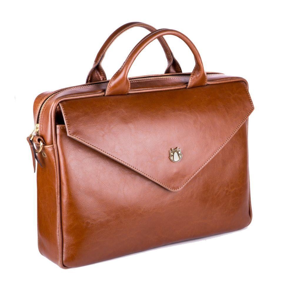 fbee922bb02ec ... Skórzana torba na laptopa FL15 Positano brązowy vintage Kliknij, aby  powiększyć ...