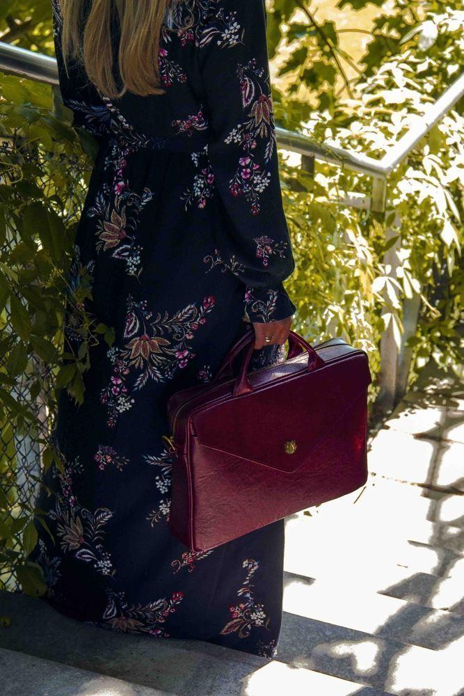 bc86242c667a1 ... Skórzana torba na laptopa FL15 Positano burgundowa Kliknij, aby  powiększyć ...
