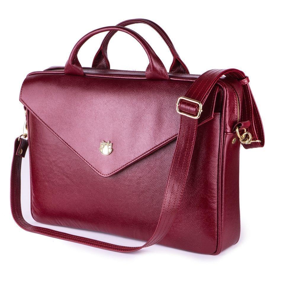 6c04ef7703ac4 Skórzana torba na laptopa FL15 Positano burgundowa Kliknij, aby powiększyć  ...