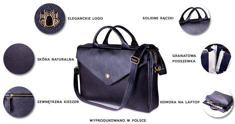 4a80403e30bfd ... Skórzana torba na laptopa FL15 Positano burgundowa Kliknij, aby  powiększyć