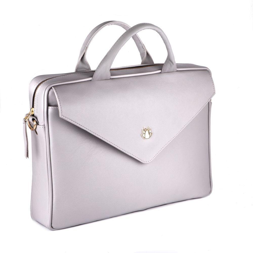 e94ff2c8ec286 ... Skórzana torba na laptopa FL15 Positano jasny szary Kliknij, aby  powiększyć ...