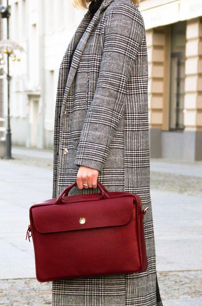 9507f5aa3fc7f ... Skórzana torba na laptopa FL16 Sorrento burgundowa Kliknij, aby  powiększyć