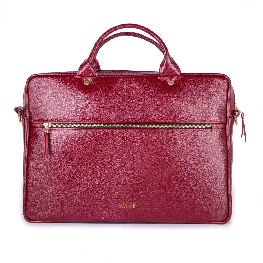 44d60fb092cbb ... Skórzana torba na laptopa FL16 Sorrento burgundowa Kliknij, aby  powiększyć ...