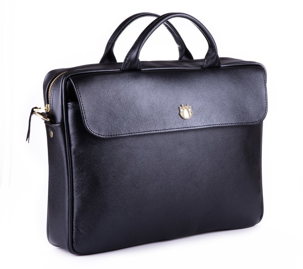 45e76766613a7 ... Skórzana torba na laptopa FL16 Sorrento czarna Kliknij, aby powiększyć  ...