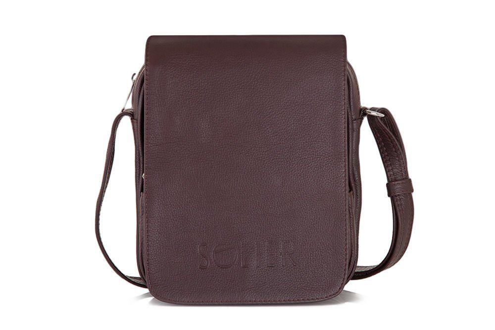 66a7de6076ff0 Skórzana torba na ramię, raportówka Solier SL32 Kliknij, aby powiększyć ...