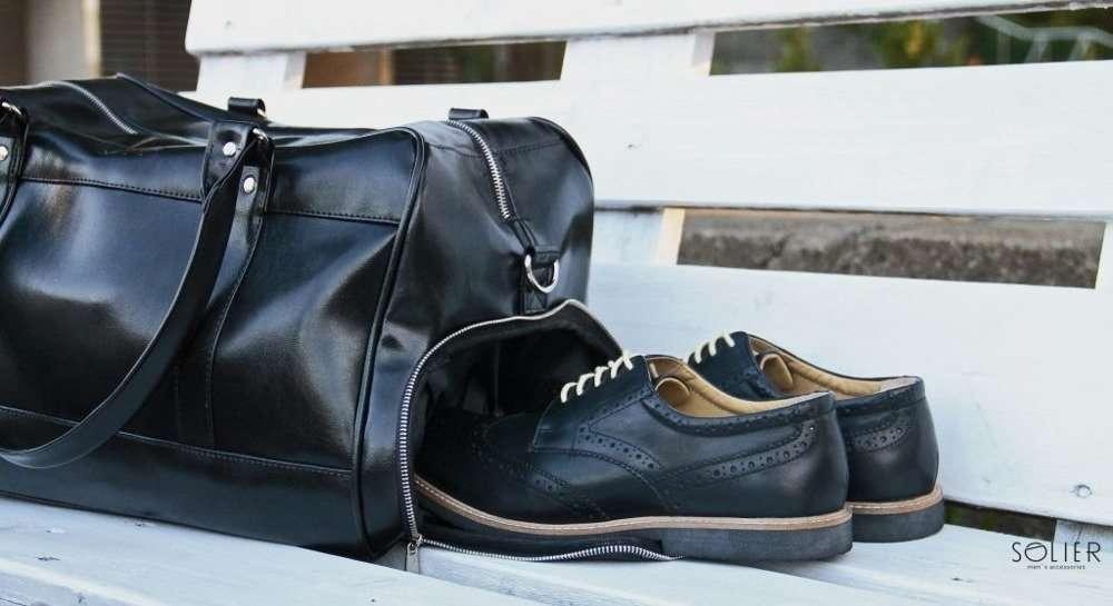 7c57e832383f5 ... Sportowa czarna torba weekendowa Solier S18 GOVAN Kliknij