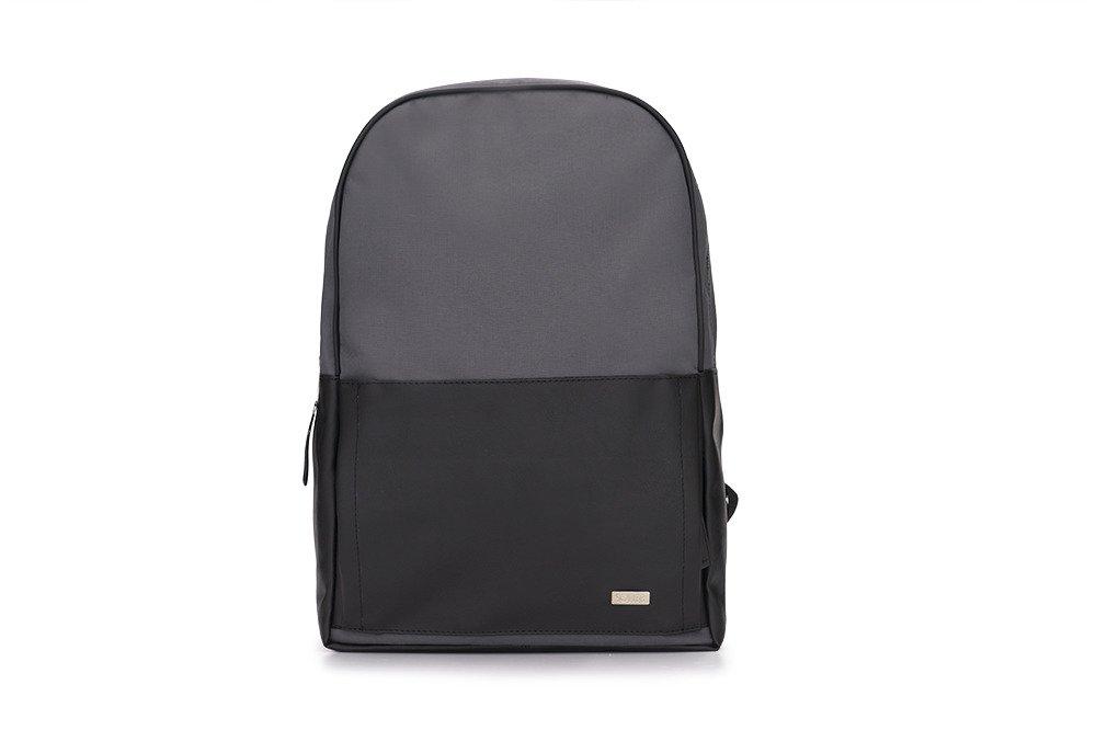 dc7fc7f1d2a74 Szaro-czarny elegancki plecak miejski Solier FORRES Kliknij, aby powiększyć  ...