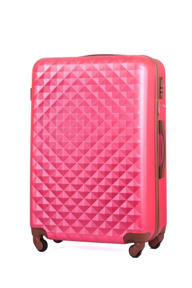 b6f449cec4228 Walizka podróżna twarda średnia stl190 różowa Kliknij, aby powiększyć ...