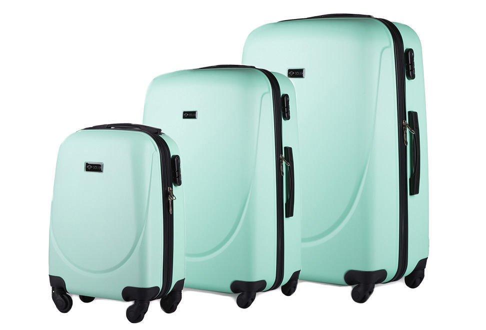 55c9686eb0e6c Zestaw walizek podróżnych stl310 abs miętowy Kliknij