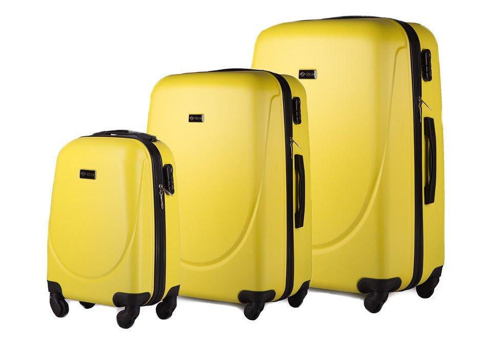 01524535344f5 Zestaw walizek podróżnych stl310 abs żółty Kliknij
